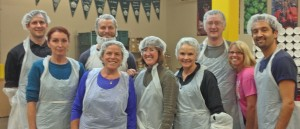 HLGR staff and attorneys bagging food for the Oregon Food Bank October 2013